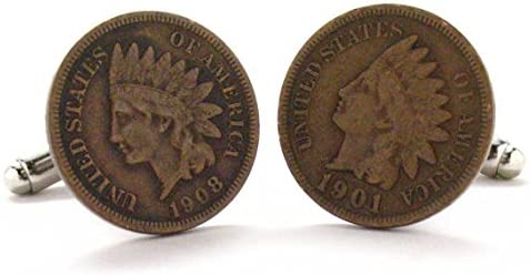 Memphis Mall Indian Head Penny 67% OFF of fixed price Cufflinks Cuff Links Cowboy Antique West Coin