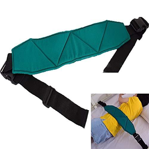 YAOBAO Rollgurt Rückhaltebett Verstellbarer Rollstuhl-Sicherheitsgurt Universalgröße Extra Lange Gurte, Grün 1 ST