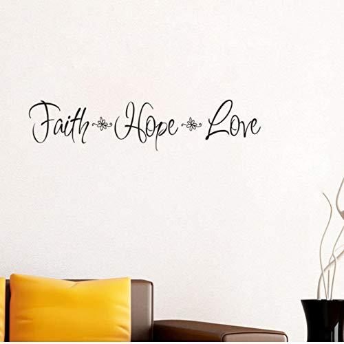 Faith Hope Love Vinyl Wall Sticker Home Decor Bedroom Decal Art Mural Wall Decoration 70 * 30Cm