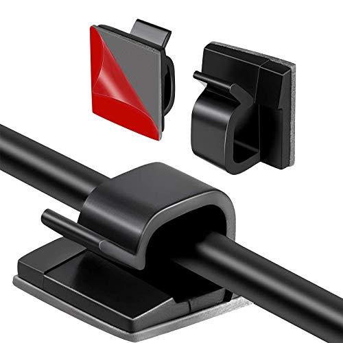 HALOVIE 120 Piezas Clips de Cable Organizador de Cables Autoadhesivo Gestión de...