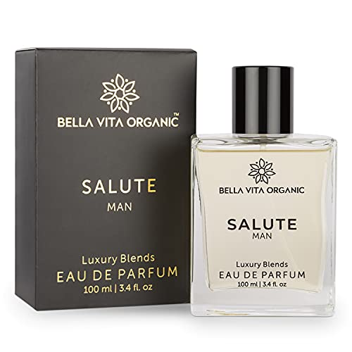 Bella Vita Organic Salute Men EDP with Strong Woody Long Lasting Fragrance, 100 ml