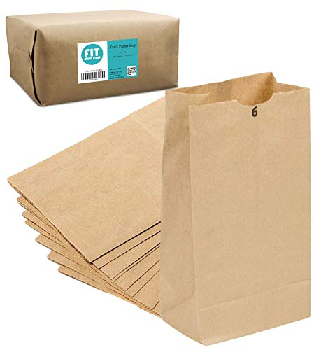 [500 Pack] Kraft Paper Bags 11 x...