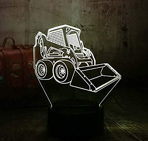 Nachtlichter 3D Cool 3D Led Nachtlicht Schreibtischlampe Gabelstapler Auto Usb 7 Farbwechsel Lampe Wohnkultur Geschenk Für Kind Baby Spielzeug Lava