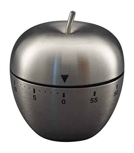 Temporizador de cocina mecánico inoxidable con forma de manzana