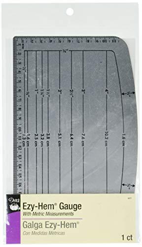 Dritz 617 Gauge, Ezy-Hem, Nickel with Black Printing