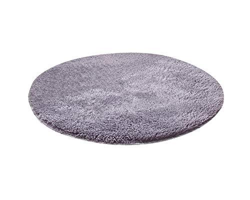 Tapis Shaggy à Poils Longs Rond - Anthracite - 9 Tailles Disponibles Gris Argenté 30 * 30CM
