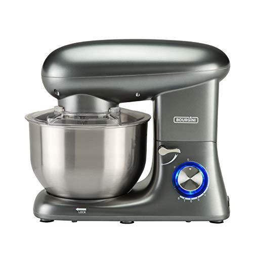 Bourgini Kitchen Chef Plus Grey - Robot de cocina (5,5 L), color gris metálico