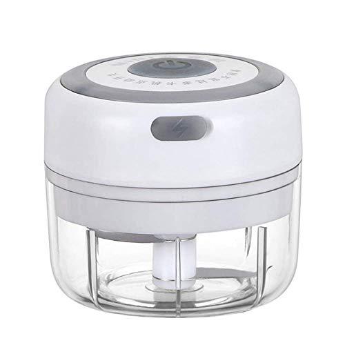 Iwinna 100ml Electric Mini Garlic Chopper Slicer Garlic Blender, Portable Food Chopper, Palm Sized Blender for Fruits Garlic/Vegetables/Onions/Pepper/Ginger(White)