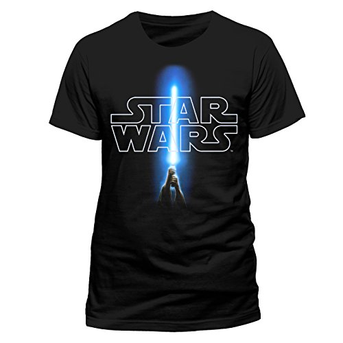 Star Wars 8 The Last Jedi - Logo & Saber (Unisex) (L)