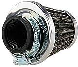 LXNQG Accesorios para Motocicletas universales Pinza Metalizada Ovalada Pinza de reembolso Fondo de Aire de Embudo de reembolso 28 mm 35 mm 39mm 42mm 48mm 50mm 52mm 60mm (Color: 60mm) w