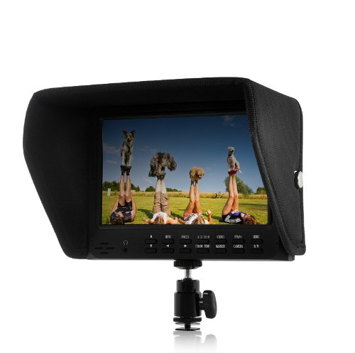 BW 7 Inch On-Camera HD DSLR Monitor with 1080P HDMI AV YPbPr - Black