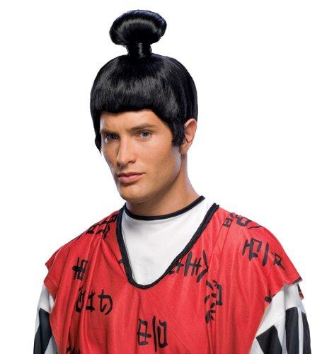 Rubie's Japanese Samurai Wig, Black, One Size