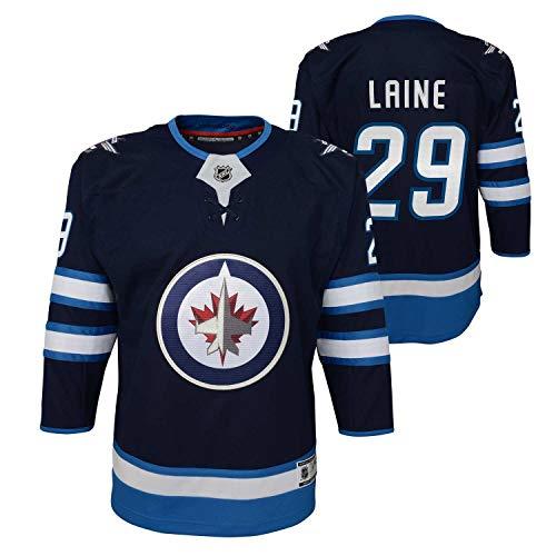 NHL Outerstuff Patrik Laine #29 Winnipeg Jets Premier Youth Trikot Home Navy (Kinder), S/M (YTH)