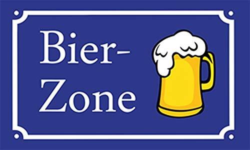 Fanshop Lünen Fahne - Flagge - Bier-Zone - Krug - Bierkrug - Bier - Zone - 90x150 cm - Hissfahne mit Ösen -