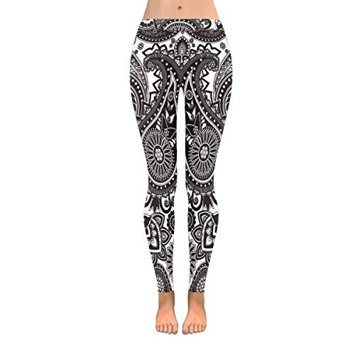 Hangdachang Frauen Yoga Hosen - Marine Muster auf gestreiften Stretchy Sport Gym Home Leggings S