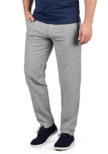 Indicode Ledionos Herren Leinenhose Lange Stoffhose Regular Fit, Größe:XL, Farbe:Iron (920)