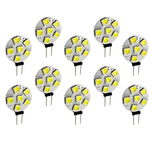Shiwaki Bombillas LED Blancas de Alta Potencia para Decoración Del Hogar de 6500K - G4 5050-6SMD