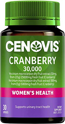 Cenovis Cranberry 30,000 High Strength Formula, Supports Urinary Tract and Maintains General Health, 30 Count