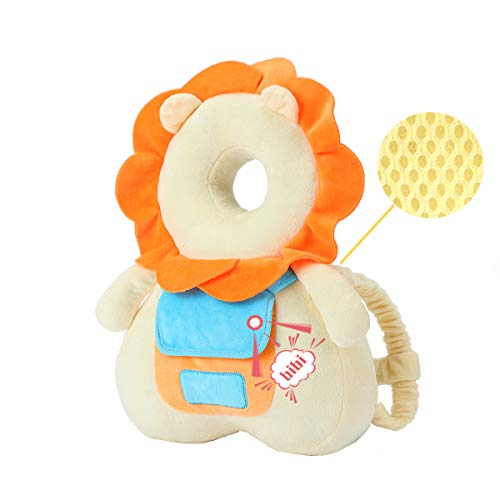 Head Safety Protector Pad for Baby Toddler Walker,Infant Talking Head Protection Backpack Cushion Lion