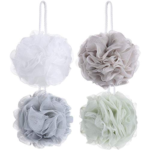 8 Small Mesh Pouf Bath Sponge  Mesh Loofah Body Exfoliating Shower Ball Shower Sponge
