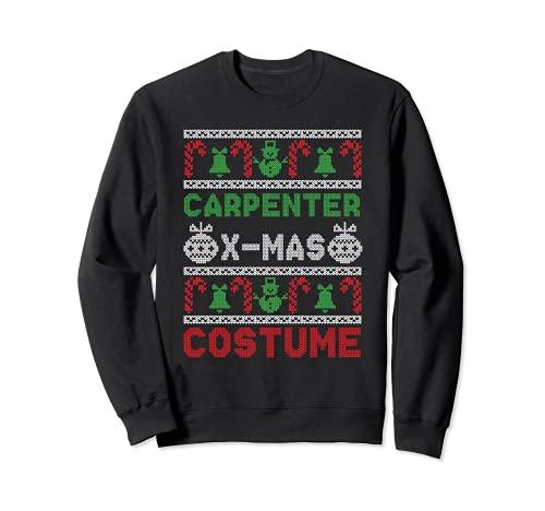 Disfraz de carpintero X-Mas diciembre vacaciones fea Navidad Sudadera