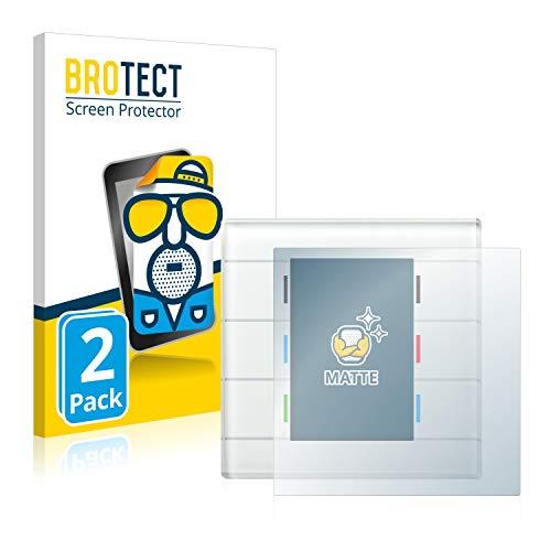 BROTECT 2X Entspiegelungs-Schutzfolie kompatibel mit MDT Glastaster II Bildschirmschutz-Folie Matt, Anti-Reflex, Anti-Fingerprint
