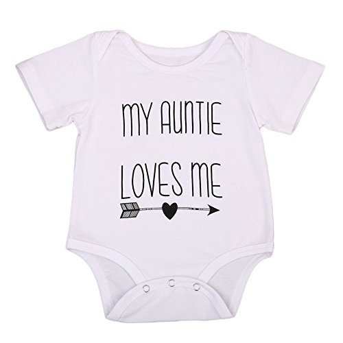 BULINGNA Cotton Newborn Infant Baby Boys Girls Short Sleeve Aunt Bodysuit