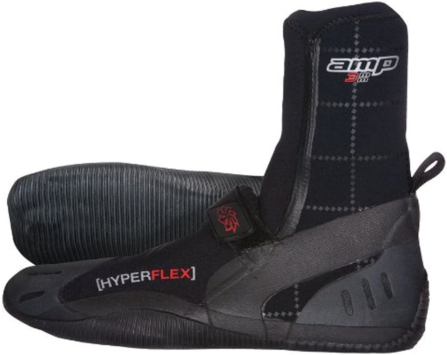Hyperflex Wetsuits Men's 3mm Amp Round Toe Boot
