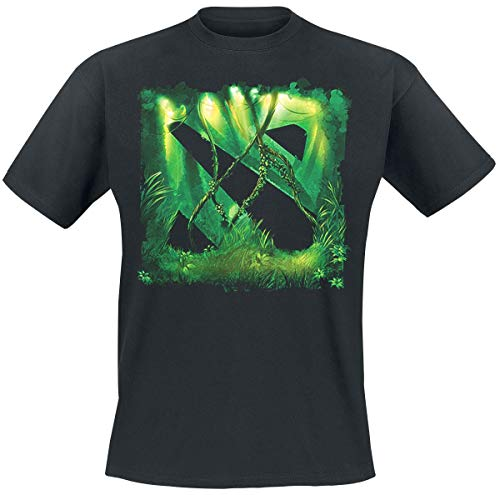 DOTA 2 - Logo Jungle Männer T-Shirt schwarz M 100% Baumwolle Esports, Fan-Merch, Gaming