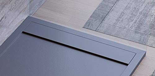 Plato de ducha de color antracita, diseño moderno, modelo Sevilla ...