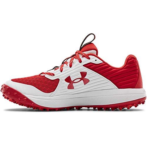Under Armour Men's Yard Turf Baseball Shoe, Red (600)/White, 11