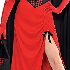 LADIES RED RIDING HOOD HALLOWEEN GOTHIC FAIRYTALE FANCY DRESS COSTUME - ADULTS DRESS, LACE UP GINGHAM CORSET, REVERSIBLE HOODED CAPE, BLACK OPEN TOP BASKET AND GINGHAM HANDKERCHIEF (XLARGE) #5