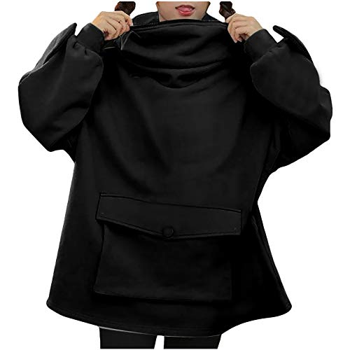 VERMSS Damen Spleißen Hoodie Lustig Frosch Frauen Kapuzenpullover mit Taschen und Reißverschluss Sweatshirt Das Neue Casual Persönlichkeit Pullover Herbst Winter Party Lässige Hoody Kawaii Oberteil