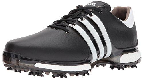 adidas Men's TOUR360 Boost 2.0 Golf Shoe, Core Black/White, 7.5 UK