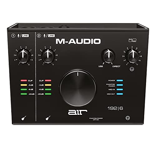 M-Audio AIR 192|6 - 2-In 2-Out USB Audio / MIDI Interface with Recording Software from Pro-Tools & Ableton Live, Plus Studio-Grade FX & Instruments