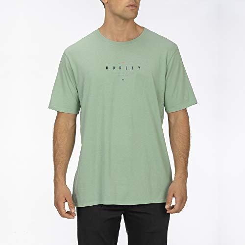Hurley M Bnz Fringe S/S, T-Shirt Uomo, Spruce Fog, S