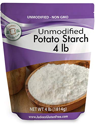 Judee's Unmodified Potato Starch (4 lbs) Non GMO, Dedicated Gluten & Nut Free Facility