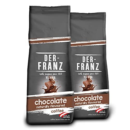 DER-FRANZ Caffè aromatizzato al cioccolato naturale, macinato, 2 x 500 g
