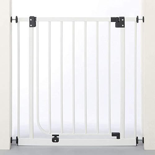 日本育児 ベビーゲイト ベビーズゲート ホワイト 6ヶ月~24ヶ月対象 扉開閉式のシンプルな突っ張りゲイト