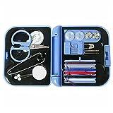 BaoYPP Kit de Costura Kit de Costura de Viaje Hilo Agujas Mini Caso Tijeras de plástico DIY al Aire Libre DIY Accesorios de Costura Ligero y Portátil (Color : Azul, Size : 7X6.5X2cm)