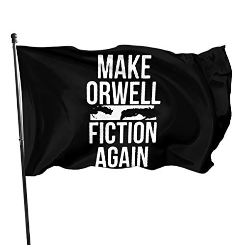 Paoseven Make Orwell Fiction Again Decorative Garden Flags, Outdoor Artificial Flag for Home, Garden Yard Decorations 3x5 Ft