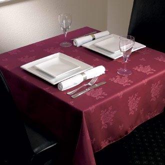Stalwart CE501 Roslin geweven tafelkleed, Polyester, 1371 mm x 1778 mm, Rose Bourgondië