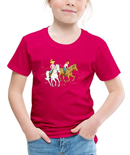 Bibi Und Tina Ausritt Mit Amadeus Und Sabrina Kinder Premium T-Shirt, 110/116 (4 Jahre), Dunkles Pink