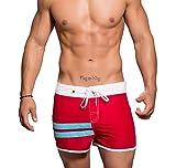 Andrew Christian Harbor Swim 7405 - Bañador para hombre, color rojo rojo M