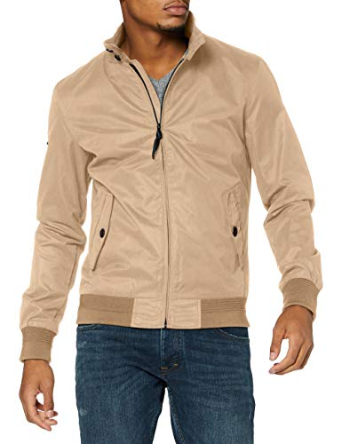 Superdry Mens Iconic Harrington Jacket, Tan, Large