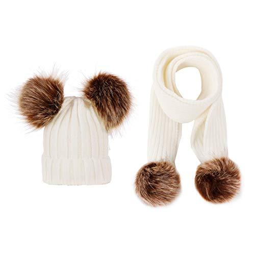 LZH recién nacido bebé punto sombrero+bufanda 2pcs bebé color sólido bufandas invierno cálido bebé niña sombrero para bebé niño traje bebé unisex conjunto