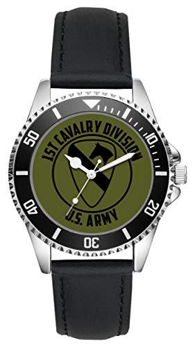 KIESENBERG - Geschenk US Army Veteran Military Soldat 1st Cavalry Division Uhr L-6512