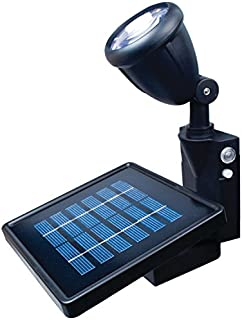 MAXSA 40334 Dusk to Dawn Solar Powered LED Flag Light with Mount and Directional Focus, Black
