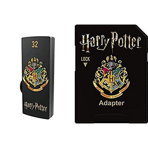 Pack Support de Stockage Rapide et Performant : Clé USB - 2.0 - Série Licence - Harry Potter Hogwarts - 32 Go + Carte MicroSD - Collection Harry Potter - Hogwarts - 32 Go