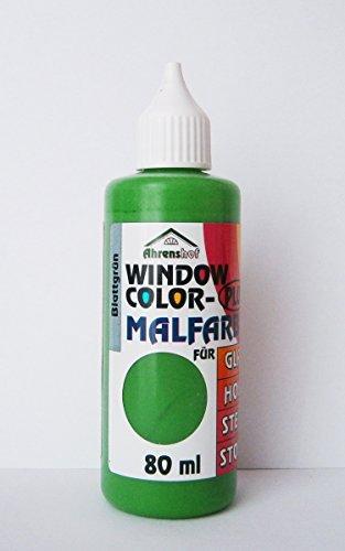 Eco Window Color MALFARBE 80ml Farbe Fenstermalfarbe Fensterfarbe 24 Farben Glas (Blattgrün)